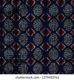 Abstract geometric hipster fashion design print triangle or ogee pattern