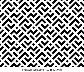 Abstract geometric patern with squares. A seamless background. Black and white texture. Graphic modern pattern