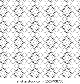Abstract geometric pattern with crossing thin lines on white background. Seamless linear rapport. Stylish fractal texture. Pattern to fill the background.