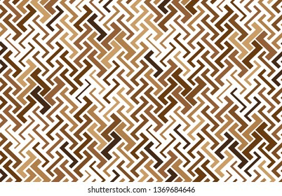 Abstract geometric pattern with stripes, lines. Seamless background. Color brown ornament. Simple lattice graphic design
