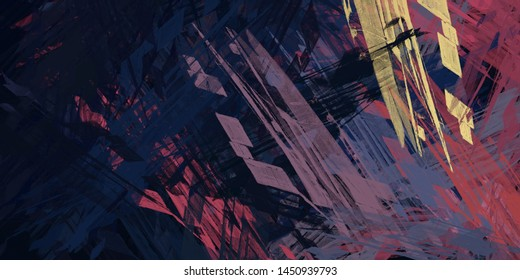 Abstract Painting Geometric Shapes Images Stock Photos