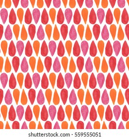 Abstract geometric seamless watercolor pattern