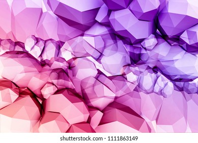 Abstract geometric shape. 3d render