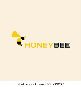 Abstract geometric shapes from bee logo design for your business art