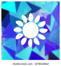 Abstract geometric shapes with a flower in the middle