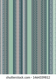 Abstract Geometric Stripes green design for surfaces and textile