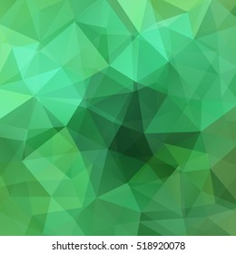 Abstract geometric style green background.