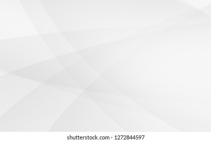 Abstract geometric white and gray curve line gradient Background. with space for concept design Technology and modern.