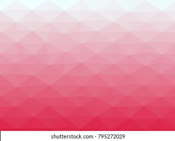 Abstract geometrical azure to crimson color high resolution triangle polygon origami gradient background