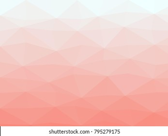 Abstract geometrical azure to salmon color high resolution triangle polygon origami gradient background