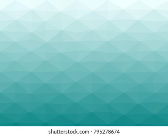 Abstract geometrical azure to teal color high resolution triangle polygon origami gradient background