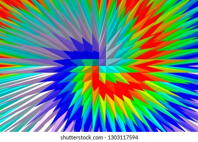Abstract geometrical background, Pyramid shape