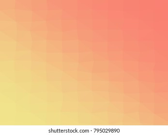 Abstract geometrical salmon to khaki color high resolution triangle polygon origami gradient background