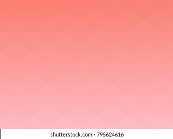 Abstract geometrical salmon to pink color high resolution triangle polygon origami gradient background