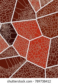 Abstract geometrical science concept. Colored voronoi low poly tesselated triangle pattern texture. 3d rendering