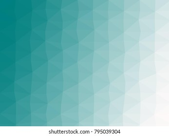 Abstract geometrical teal to snow color high resolution triangle polygon origami gradient background