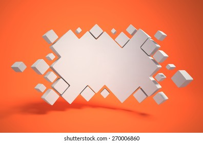 abstract geometry as 3d background