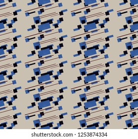 abstract geometry comstructivism seamless pattern. avangard textile and wallpaper design