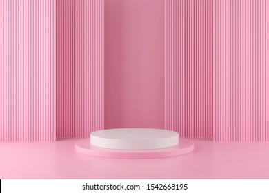 Abstract geometry shape background. podium minimalist mock up scene. 3d rendering.
