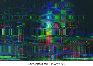 Abstract glitch art background illustration.