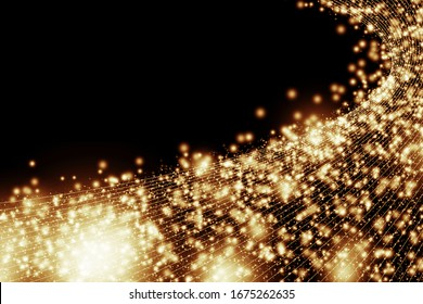 Abstract glittering graphic background material