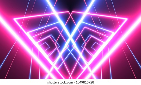 abstract glowing lines background. neon lights