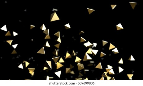 Abstract gold background. 3d rendering