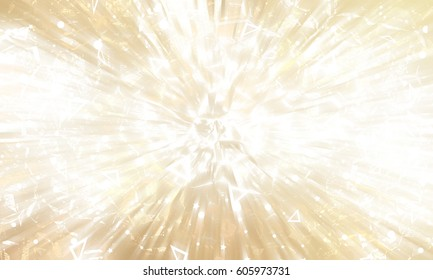 Abstract gold background. Explosion star. illustration digital.