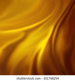 abstract gold background luxury cloth or liquid wave or wavy folds of grunge silk texture satin velvet material or gold luxurious Christmas background or elegant wallpaper design, yellow background