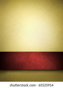 abstract gold background with red ribbon, beautiful Christmas background or anniversary, valentines day, or fancy elegant gold paper with luxury vintage grunge texture