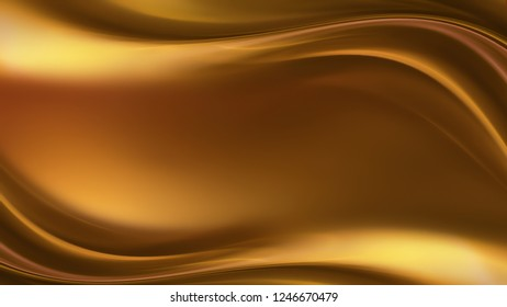 abstract gold background with smooth wavy lines