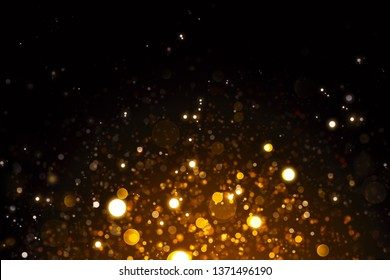 Abstract gold bokeh background.Glitter vintage lights background.