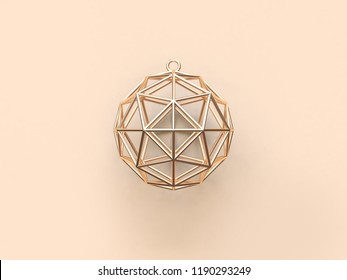 abstract gold christmas ball 3d rendering