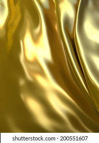 Abstract gold cloth background