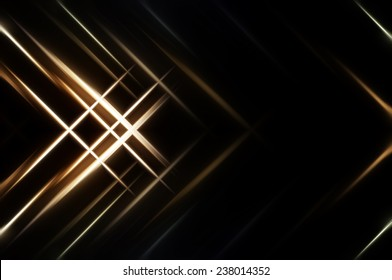 Abstract gold fractal background with various