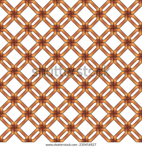 abstract gold metallic wickerwork pattern