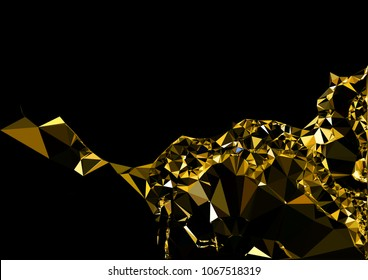 Abstract gold polygonal texture background. Geometric pattern for graphic design. Can be used as gradient or wallpaper. Trangle futuristic artwork.