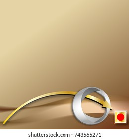 Abstract golden background with arrows showing to a point