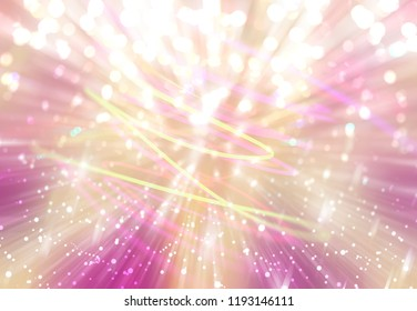 Abstract golden background burst star. Explosion star with particles. Beautiful illustration fireworks.