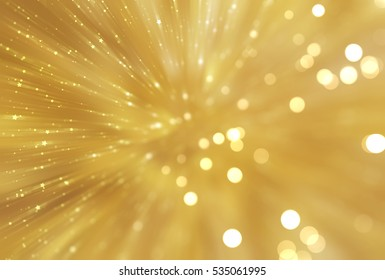 abstract golden background. fractal explosion star with gloss and lines. illustration beautiful.