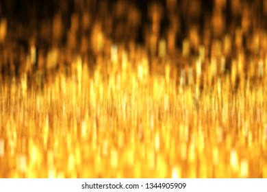 Abstract of Golden  with bokeh light background