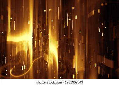 Abstract golden lines background