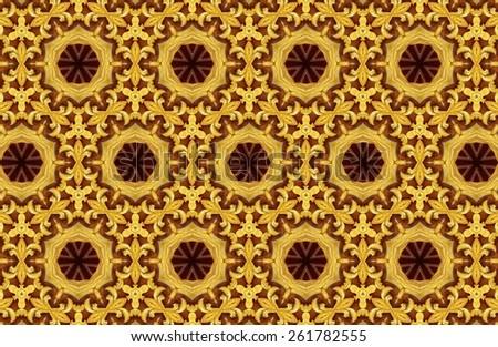 Abstract Golden Patterns Background Wallpaper