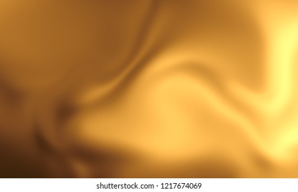 Abstract golden satin wavy texture background. 3d render illustration. for inscription sale wallpaper decoration element.poster design.