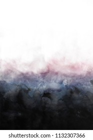 Abstract gradient cloudy watercolor painting