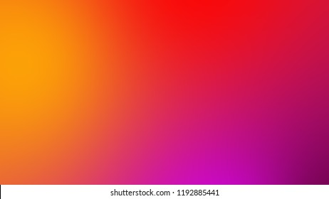 Abstract gradient red orange and pink soft colorful background. Modern horizontal design for mobile app.