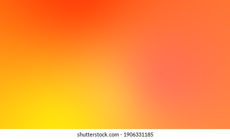 Abstract gradient yellow orange soft color background. Modern horizontal design for mobile app.
