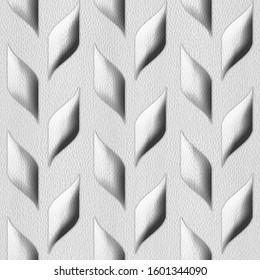 Abstract grains of cob - decorative pattern - Interior wall decoration - 3D illustration - convex tiles