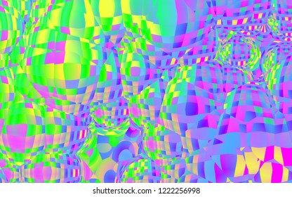 Abstract graphic bubble background, 3d illustration
