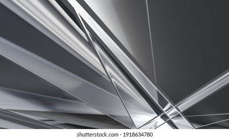 Abstract gray background geometric pattern of design 3d render
